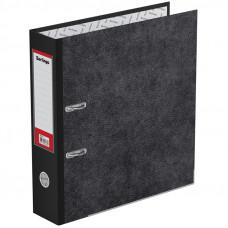 "Папка-регистратор Berlingo ""Standard"", 70мм, мрамор, с карм. на корешке, нижний метал. кант, черная"