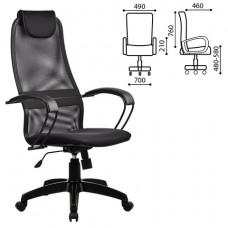 Кресло офисное МЕТТА «BP-8PL», ткань-сетка, черное