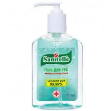 Гель для рук антисептический спиртосодержащий (62%) с дозатором 250 мл SANITELLE (Санитель), «Алоэ», с витамином Е