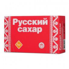 Сахар-рафинад «Русский», 1 кг (196 кусочков, размер 15×16×21 мм), картонная упаковка