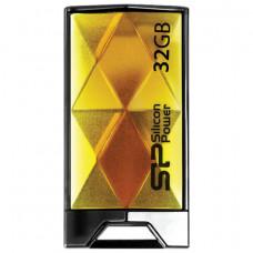 Флеш-диск 32 GB, SILICON POWER Touch 850, USB 2.0, металлический корпус, янтарный, SP32GBUF2850V1A
