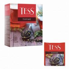 Чай TESS (Тесс) «Thyme», черный, чабрец и цедра лимона, 100 пакетиков в конвертах по 2 г
