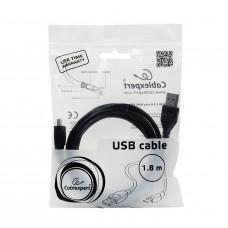 Кабель USB-mini USB, 1,8 м, CABLEXPERT, для подключения портативных устройств и периферии, CCP-USB2-AM5P-6