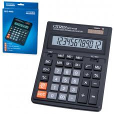 Калькулятор настольный CITIZEN SDC-444S (199×153 мм), 12 разрядов, двойное питание