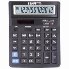 Калькулятор настольный STAFF STF-777, 12 разрядов, двойное питание, 210×165 мм, ЧЕРНЫЙ