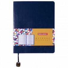 Дневник 1-11 класс 48 л, обложка кожзам (лайт), термотиснение, BRAUBERG ORIGINAL, темно-синий