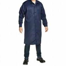 Халат технолога мужской синий, смесовая ткань, размер 52-54, рост 170-176, плотность ткани 200 г/м2