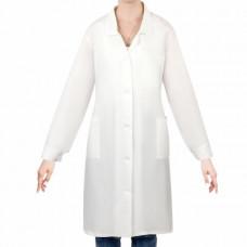 Халат рабочий женский белый, бязь, размер 48-50, рост 158-164, плотность ткани 142 г/м2