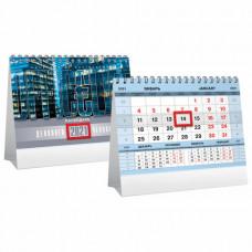 Календарь-домик настольный на гребне с бегунком, 2021 год, 160×105 мм, «Серебро»