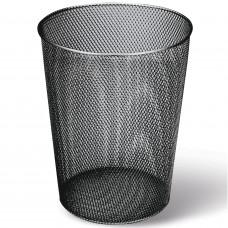 Корзина для бумаг, 9 л, металлическая, черная, BRAUBERG «Germanium»