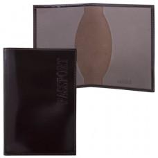 Обложка для паспорта BEFLER «Classic», натуральная кожа, тиснение «Passport», коричневая, O.1.-1
