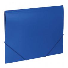 Папка на резинках BRAUBERG «Office», синяя, до 300 листов, 500 мкм