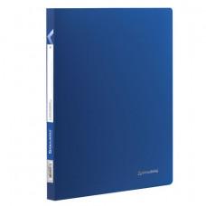 Папка с пластиковым скоросшивателем BRAUBERG «Office», синяя, до 100 листов, 0,5 мм