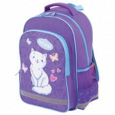 Рюкзак ПИФАГОР SCHOOL для начальной школы, «WHITE CAT», 38×28×14 см