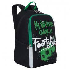 Рюкзак GRIZZLY школьный, анатомическая спинка, черный, «Football», 38×29×17 см, RB-051-2/1