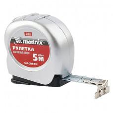 Рулетка измерительная 5,0 м х 19 мм, MATRIX «Magnetic», магнитный зацеп, пластиковый корпус