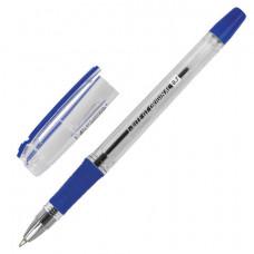 Ручка шариковая масляная с грипом BRAUBERG «i-Rite GT», СИНЯЯ, корпус прозрачный, узел 0,7 мм