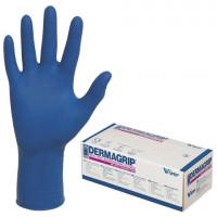 Перчатки латексные смотровые, КОМПЛЕКТ 25 пар (50 шт.), неопудренные, сверхпрочные, M, DERMAGRIP High Risk