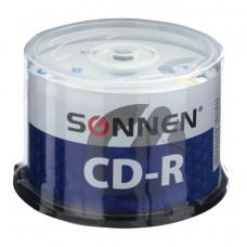 Диски CD-R SONNEN 700 Mb 52x Cake Box, КОМПЛЕКТ 50 шт.