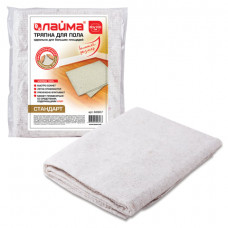 Тряпка для мытья пола 80×100 см, плотность 190 г/м2, ХПП, 100% хлопок, «Стандарт» ЛАЙМА