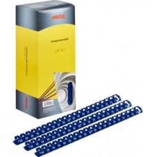 Пружины пластик 25 мм ProMega Office для переплета синие 50шт