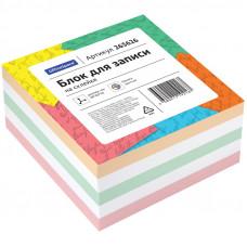 Блок для записей 80х80х40 мм цветной на склейке OfficeSpace