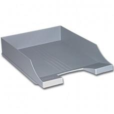 Лоток горизонтальный BRAUBERG-CONTRACT, серый, 230880