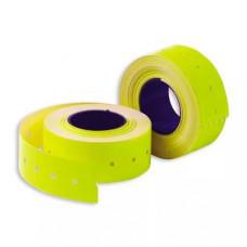 Этикет-лента 21*12 мм, желтая, 500 этикеток