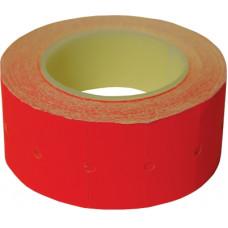Этикет-лента 21*12 мм, красная, 500 этикеток