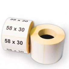 Термоэтикетка 58*30 (800) ЭКО без печати