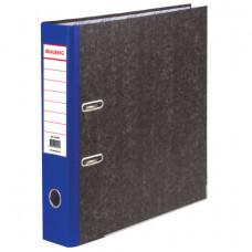 Папка-регистратор 70 мм BRAUBERG, мраморное покрытие, А4 +, синий корешок