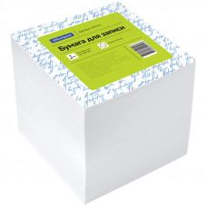 Блок для записей 90х90х90 мм белый непроклеенный белизна 92% OfficeSpace