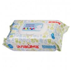 Салфетки влажные 120 шт., для детей ЛАЙМА, универсальные, очищающие, крышка-клапан, 128079ОЗ