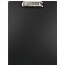Папка - планшет с зажимом  А 4 , пластик, черный OfficeSpace (очень тонкий)
