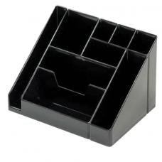 """Подставка-органайзер СТАММ """"Каскад"""", 115*160*105 мм, 9 отделений, черная"""