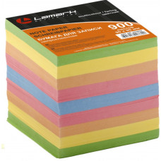 Блок для записей 90х90х90 мм цветной непроклеенный Lamark