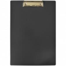 Планшет с зажимом  А4, пластик, черный OfficeSpace