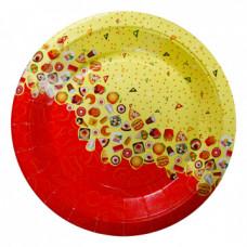 Тарелка ламинированнная круглая, 225 мм, РОГ ИЗОБИЛИЯ