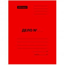 Скоросшиватель Дело 300г/м2 картон мелованный OfficeSpace красный, пробитый, до 200л.