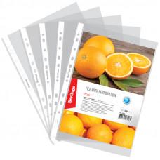 Файл-вкладыш А4 60 мкм апельсиновая корка ком (100шт)Berlingo