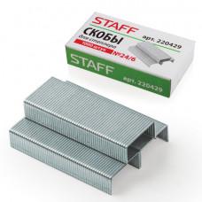 Скобы №24/6 для степлера STAFF , 1000 штук, в картонной коробке, до 30 листов, 220429