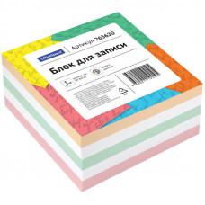 Блок для записей 80х80х40 мм цветной непроклеенный OfficeSpace,, белизна 65 г/кв.м