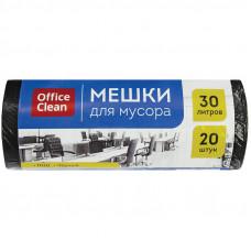 Мешки для мусора 30л 20шт/рул 8 мкм OfficeClean ПНД
