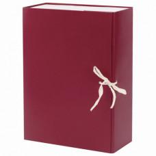 Короб архивный А4 (240х330 мм), 100 мм, 2 завязки, бумвинил, до 900 листов, бордовый, BRAUBERG, 1228