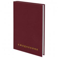 Ежедневник недатированный А5 (145х215 мм), бумвинил, 160 л., BRAUBERG, бордовый, 126541 О