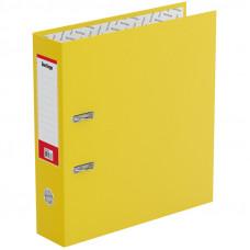 Папка-регистратор 70 мм бумвинил желтая,  с карманом на корешке  Berlingo