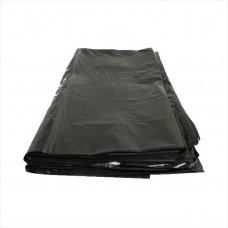 Мешки для мусора 120л 10шт/уп 45мкм черные в пластах ПВД