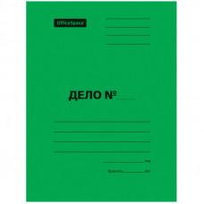 Скоросшиватель Дело 300г/м2 картон мелованный OfficeSpace зеленый, пробитый, до 200л.