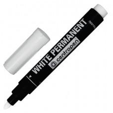 Маркер 2,5 мм белый перманентный круглый универсальный для любой поверхности CENTROPEN