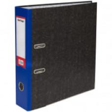 """Папка-регистратор 80 мм мрамор синий кор.,  метал. кант с карманом на корешке Berlingo """"Hyper"""""""